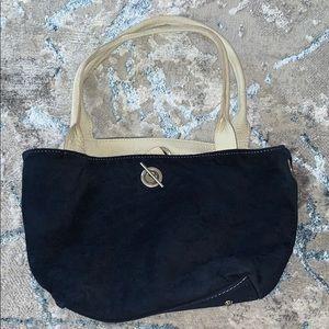 Blue Leather Handbag NWOT